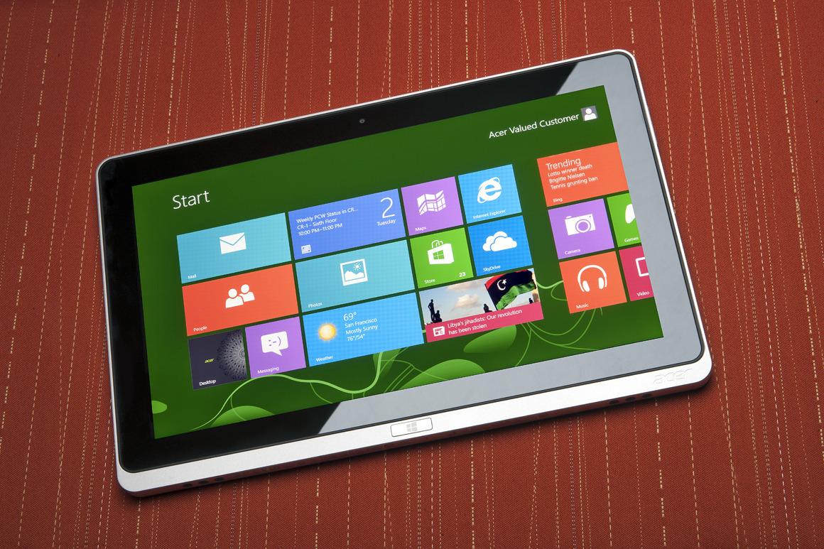 ОС для планшетов. Windows 8.