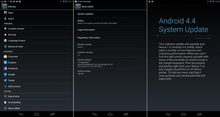 Обновление Android 4.4
