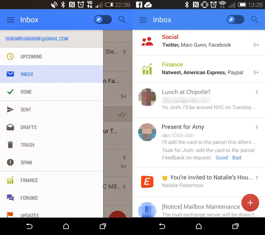Gmail Android 4.5