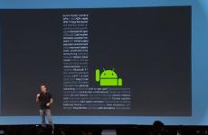 Новый Android L на сцене Google I / O