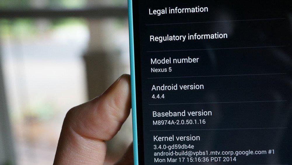 Обновление Android 4.4.4 KitKat для Nexus 7