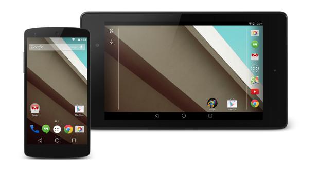 Android L на Nexus 5, Nexus 7.