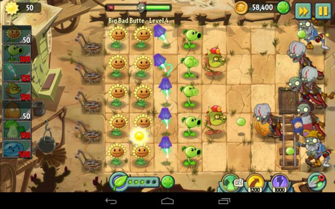 Plants VS Zombie 2 на Nexus 7