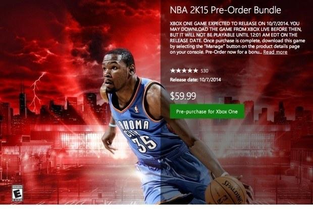 Время выхода NBA 2K15