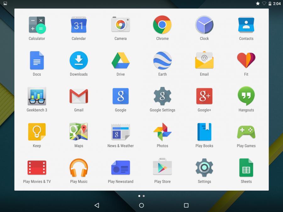 Интерфейс Android 5
