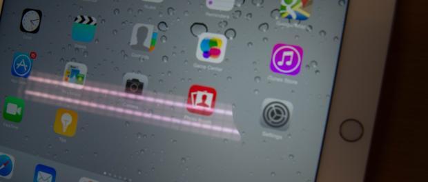 Отражение и блики iPad Air 2