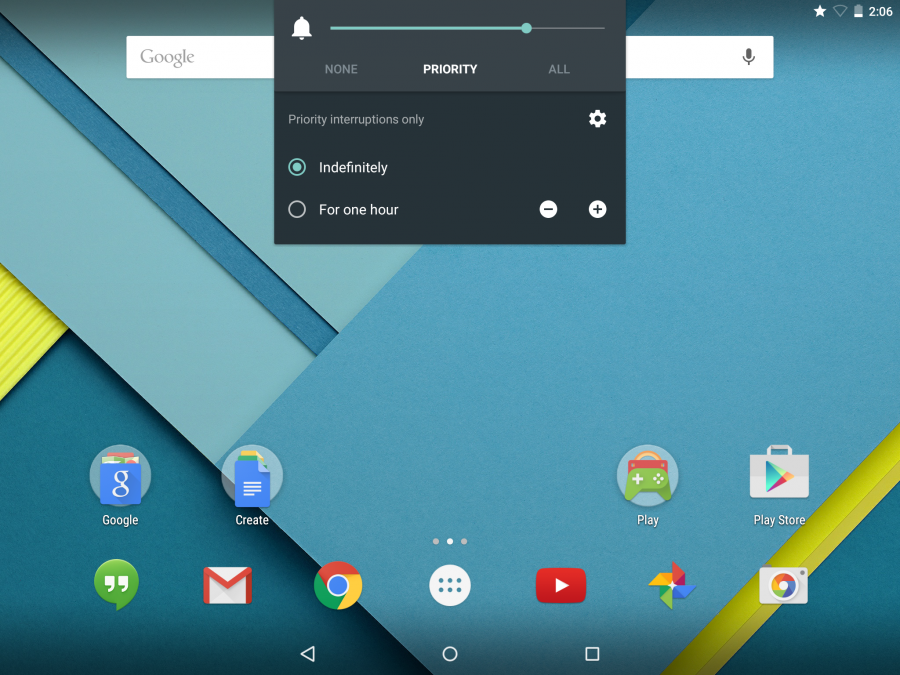 Приоритетный режим в Android 5