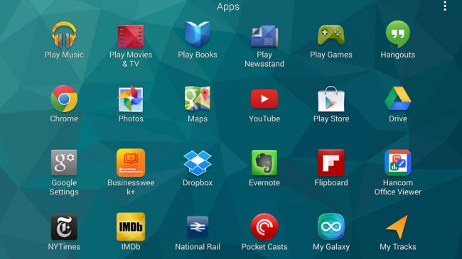 Бокс приложений Samsung Galaxy Tab S