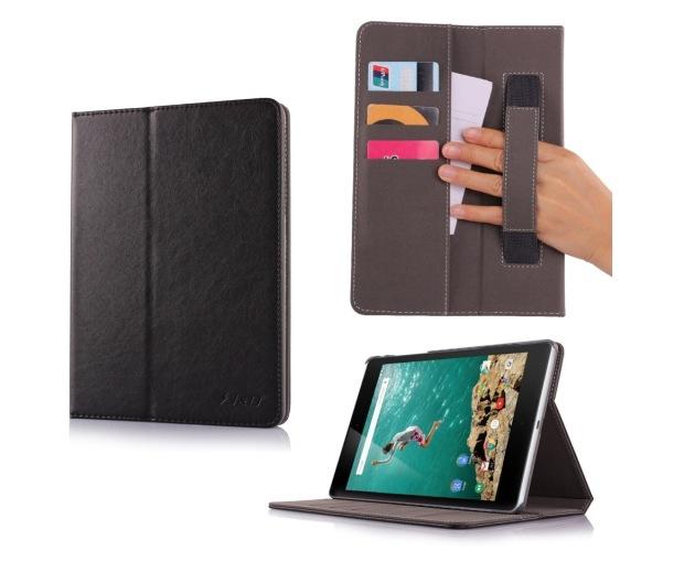 Кожаный чехол, подкладка и кошелек J&D для Nexus 9