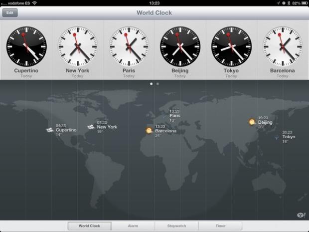 Мировое время на старом iPad