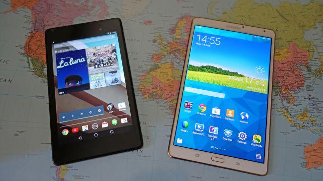 Nexus 7 и Galaxy Tab S 8.4