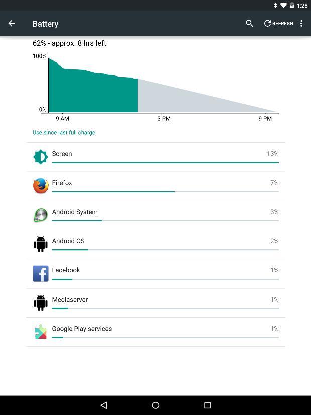 Батарея Nexus 9