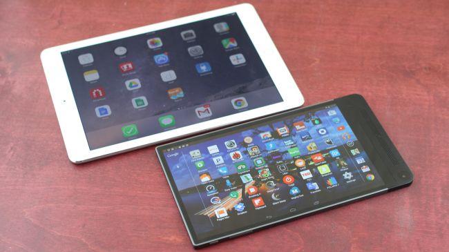 Дисплей Dell Venue 8 7000 против iPad Mini 3