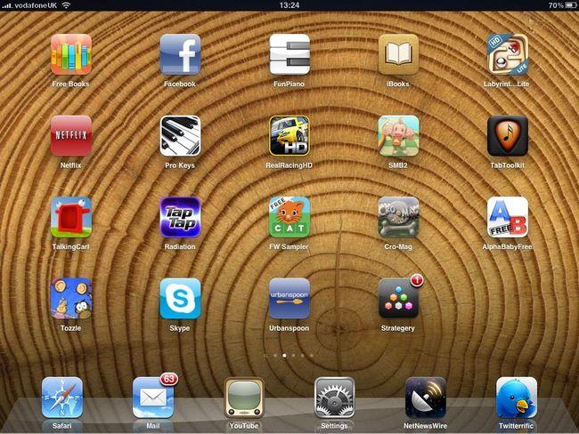 Интерфейс iPad 3G