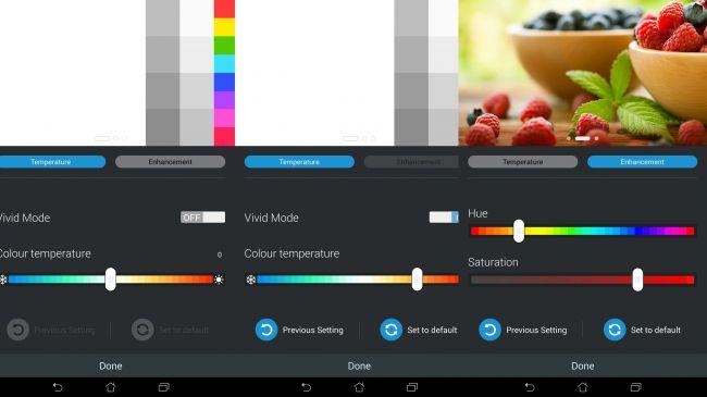 Настройки экрана MemoPad 7 ME572C