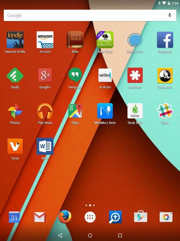 Обзор Nexus 9. Приложения
