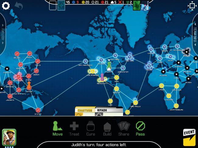 Пандемия. Настольная игра для iPad
