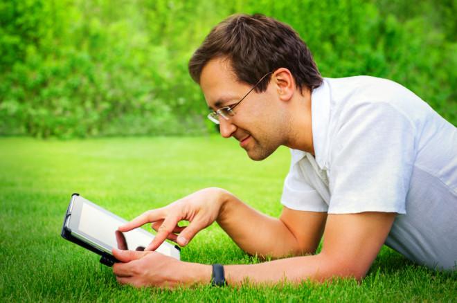 Чтение книг на планшете