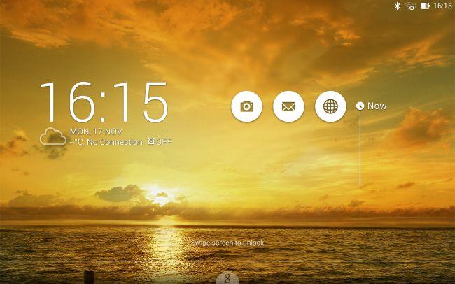 Экран блокировки Asus MeMoPad 7 ME572C