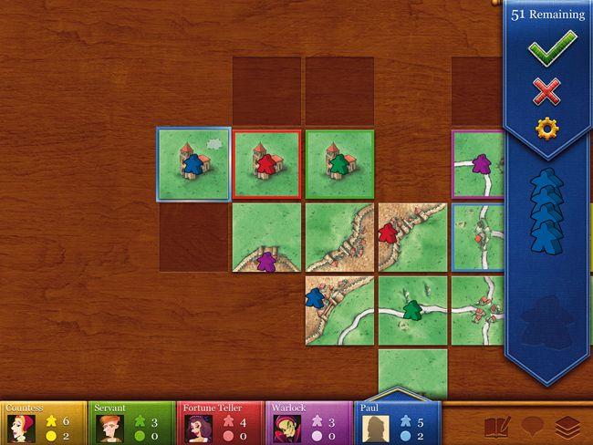 Carcassonne. Настольная игра для iPad