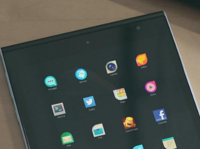 Интерфейс планшета Jolla Tablet