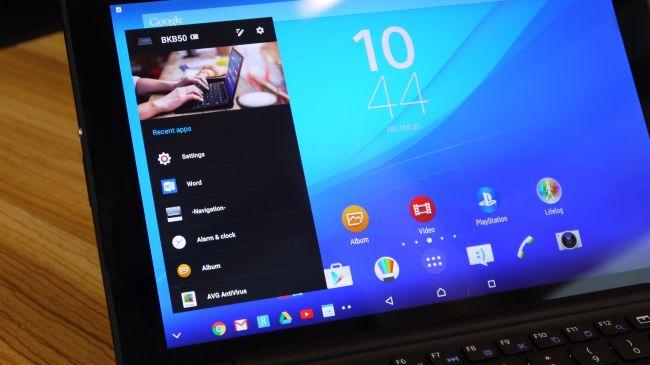 Интерфейс Sony Xperia Z4 Tablet