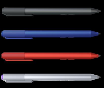 Разноцветные стилусы планшета Surface 3