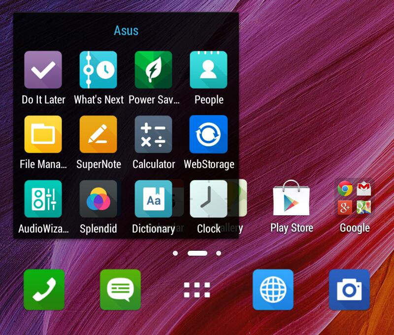 Интерфейс ASUS FonePad 7 LTE