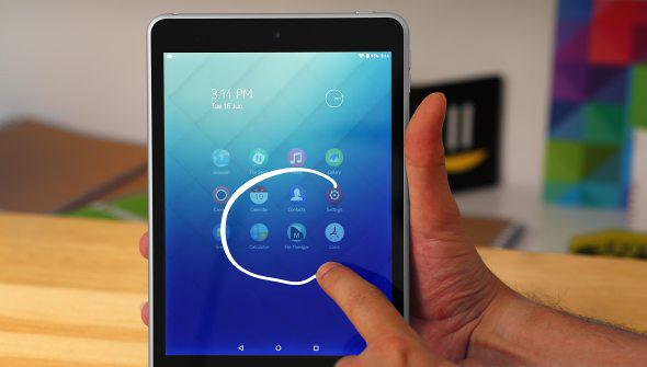 Интерфейс Nokia N1 и Z Launcher