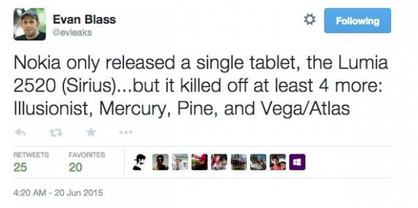 Планшеты Nokia отменены