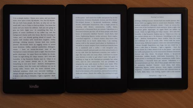 Kindle Paperwhite 2014, Kindle Paperwhite 2015 и Kobo Glo HD
