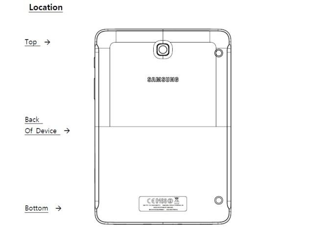Samsung Galaxy Tab S2 8.0 на FCC