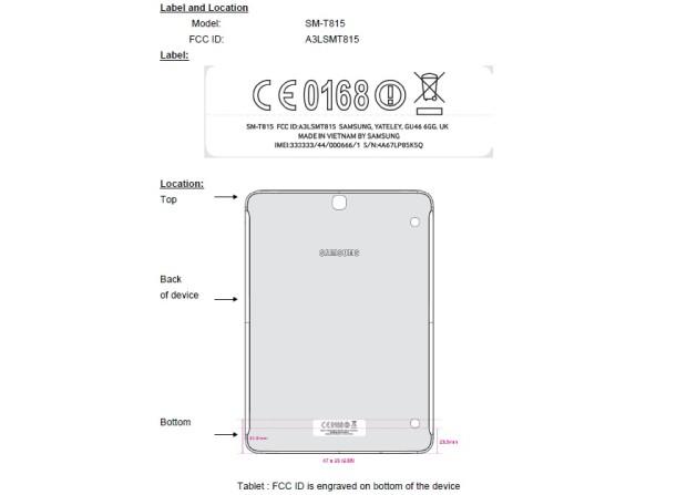 Samsung Galaxy Tab S2 9.7 LTE на сертификации FCC