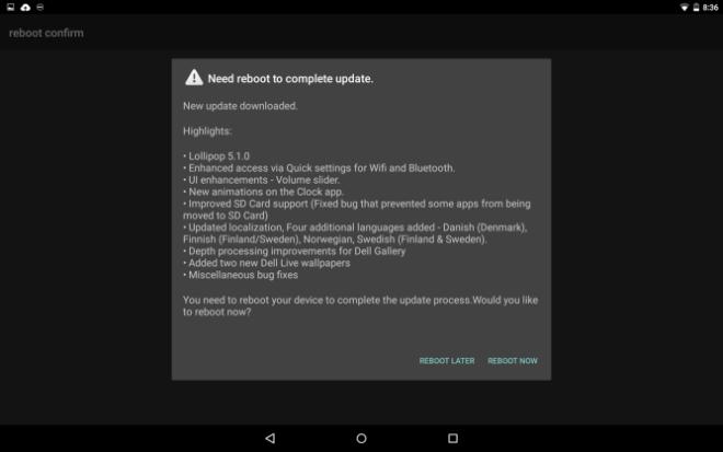 Обновление Android 5.1 для Dell Venue 8 (7840)
