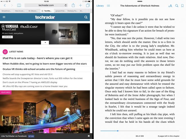 Split Screen на планшете iPad Pro