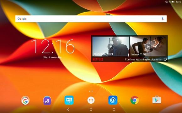 Домашний экран Lenovo Yoga Tab 3 Pro