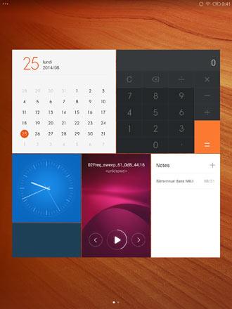 Интерфейс Xiaomi MiPad