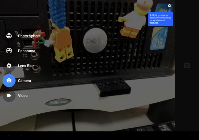 Приложение камеры Google Pixel C