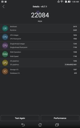 Производительность ZenPad 8.0 Z380KL