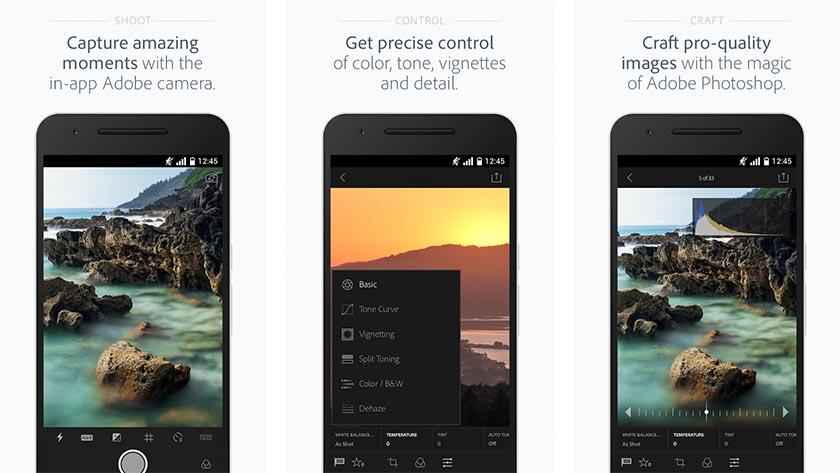 Приложение для редактирования фотографий - Adobe Photoshop Lightroom