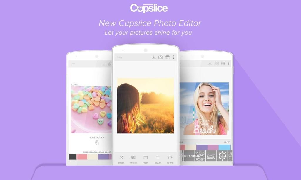 Приложение для редактирования фотографий - Cupslice