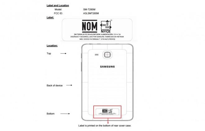 Сертификация Samsung Galaxy Tab E 7.0 LTE