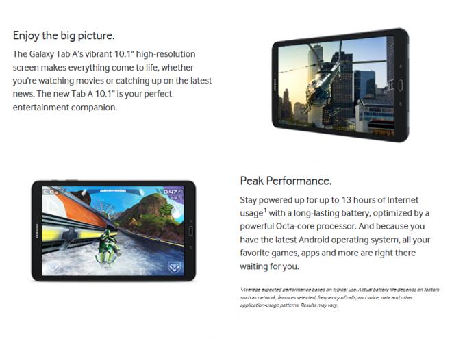 Предварительный заказ Samsung Galaxy Tab A 10.1