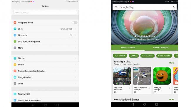 Интерфейс Huawei MediaPad M3 8.0