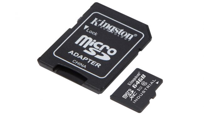 Карта памяти MicroSD Kingston Industrial Class 10 U1