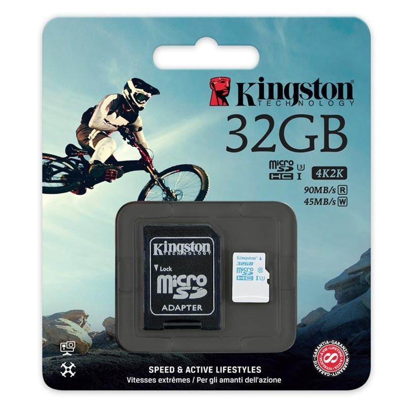 Лучшие карты памяти MicroSD - Kingston MicroSD Action Camera