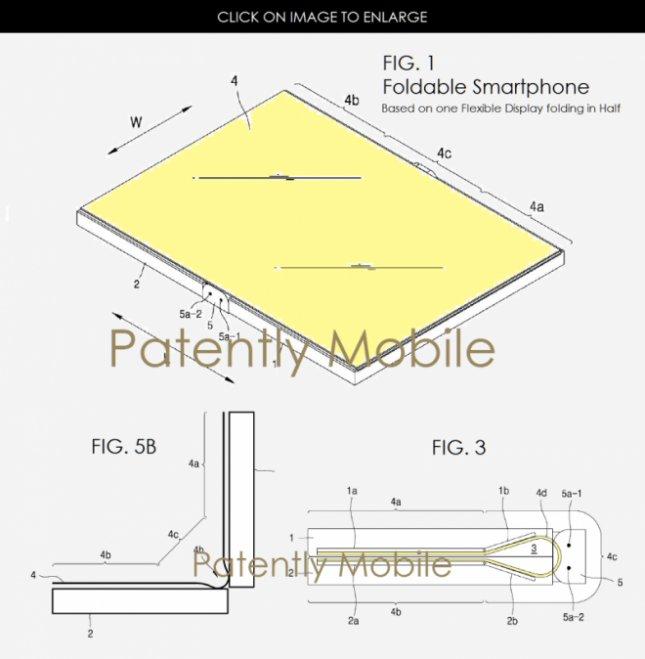 Патенты на гибкие экраны Samsung