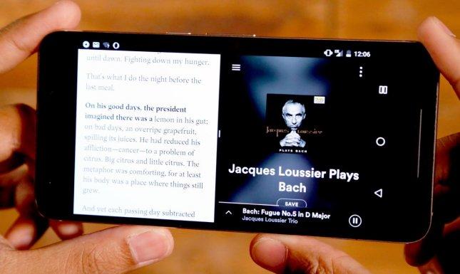 Android 7.0 Nougat - Разделение экрана