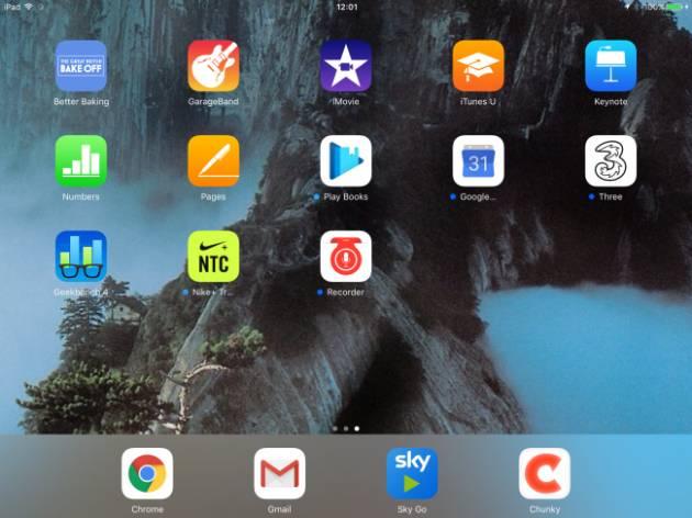 Интерфейс Apple iPad (2017)