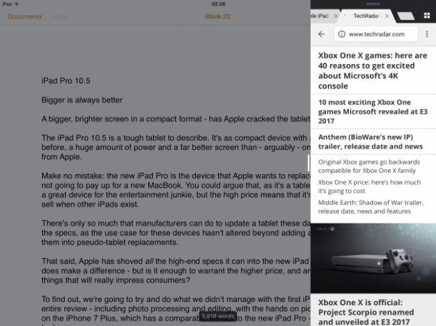 Интерфейс iPad Pro 10.5